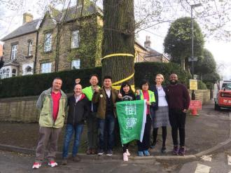 The Taiwanese Tree Party with Sheffield tree protestors