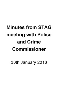 """""""STAG meeting with Police & Crime Commissioner"""