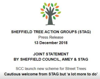 """""""Joint Statement by Sheffield Council, Amey and STAG"""