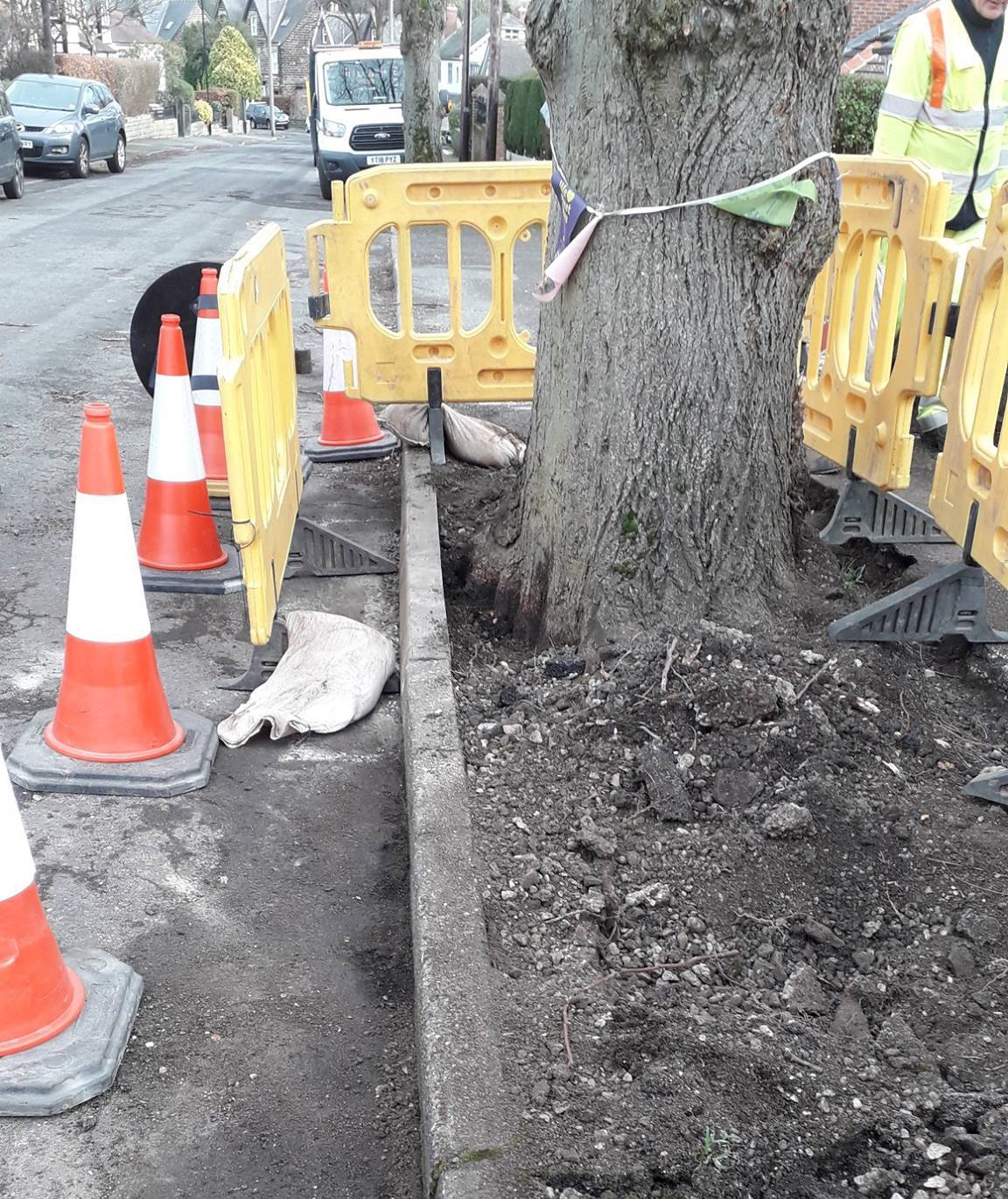 """""""Chatsworth Road 1st Inspection, finished kerb"""