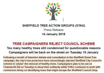 """Joint Statement by Sheffield Council, Amey and STAG"