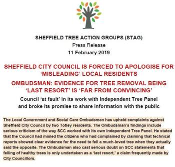 """Sheffield City Council is forced to apologise for 'misleading' local residents."